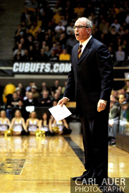 January 10th, 2013: Now fired USC head coach Kevin O'Neill during the NCAA basketball game between the University of Southern California Trojans and the University of Colorado Buffaloes at the Coors Events Center in Boulder CO