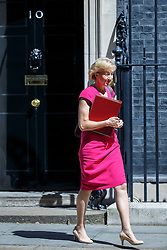© Licensed to London News Pictures. 19/07/2016. London, UK. Environment Secretary ANDREA LEADSOM attending the first cabinet meeting under Theresa May's leadership in Downing Street on Tuesday, 19 July 2016. Photo credit: Tolga Akmen/LNP