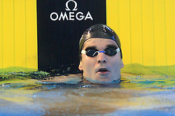 Peter Mankoc, Men`s 100m Individual Medley, at 3rd day of Heats of LEN European Short Course Swimming Championships Rijeka 2008, on December 13, 2008,  in Kantrida pool, Rijeka, Croatia
