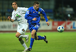 Joze Benko and Milan Andelkovic at 30th Round of Slovenian First League football match between NK Domzale and NK MIK CM Celje in Sports park Domzale, on April 25, 2009, in Domzale, Slovenia. Celje won 3:0. (Photo by Vid Ponikvar / Sportida)
