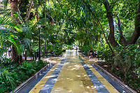 Park leading unto the Paseo de la Almeda in the centre of Marbella, Malaga Province, Andalucia, Spain, October, 2019, 201910051708<br />