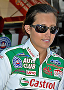 Ashley Force signing autographs prior to the NHRA drag race 2008 Memphis Motorsports Park.