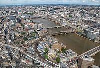 London, travel, view, Shard, cityscape, Thames, transportation, city