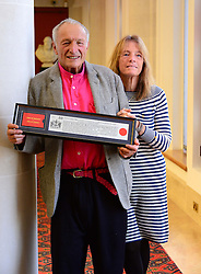 Lord Richard Rogers, with wife Lady Ruth Rogers, world famous architect of buildings including Centre Pompidou and Lloyd's of London receives the Freedom of the City of London in recognition of his outstanding contribution to architecture and urbanism, at The Guildhall,  London, United Kingdom. Friday, 7th February 2014. Picture by Nils Jorgensen / i-Images