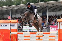 Bos Samantha (NED) - El Clarimo<br /> 4 jarige Springpaarden<br /> KWPN Paardendagen Ermelo 2013<br /> © Dirk Caremans