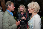 TREVOR GROVE; DEBORA MOGGACH; MRS. PETER STODHARD, Fay Weldon, book launch for  Chalcot Crescent.<br /> The Arts Club, 40 Dover Street, London W1, 6.30-8.30pm<br /> Fay Weldon