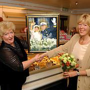 Mw. Botscher Kastelenstraat 171 Amsterdam winnares schilderij Alex & Maxima