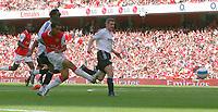 Photo: Steve Bond.<br />Arsenal v Derby County. The FA Barclays Premiership. 22/09/2007. Theo Walcott shoots wide