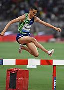 Soufiane El Bakkali (MAR) wins the steeplechase in 8:07.22 during the IAAF Doha Diamond League 2019 at Khalifa International Stadium, Friday, May 3, 2019, in Doha, Qatar