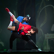 Tasha Gooden as Lil Red and Duane Taylor as the Wolf