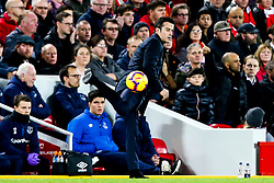 Everton manager Marco Silva controls the ball - Mandatory by-line: Robbie Stephenson/JMP - 02/12/2018 - FOOTBALL - Anfield - Liverpool, England - Liverpool v Everton - Premier League