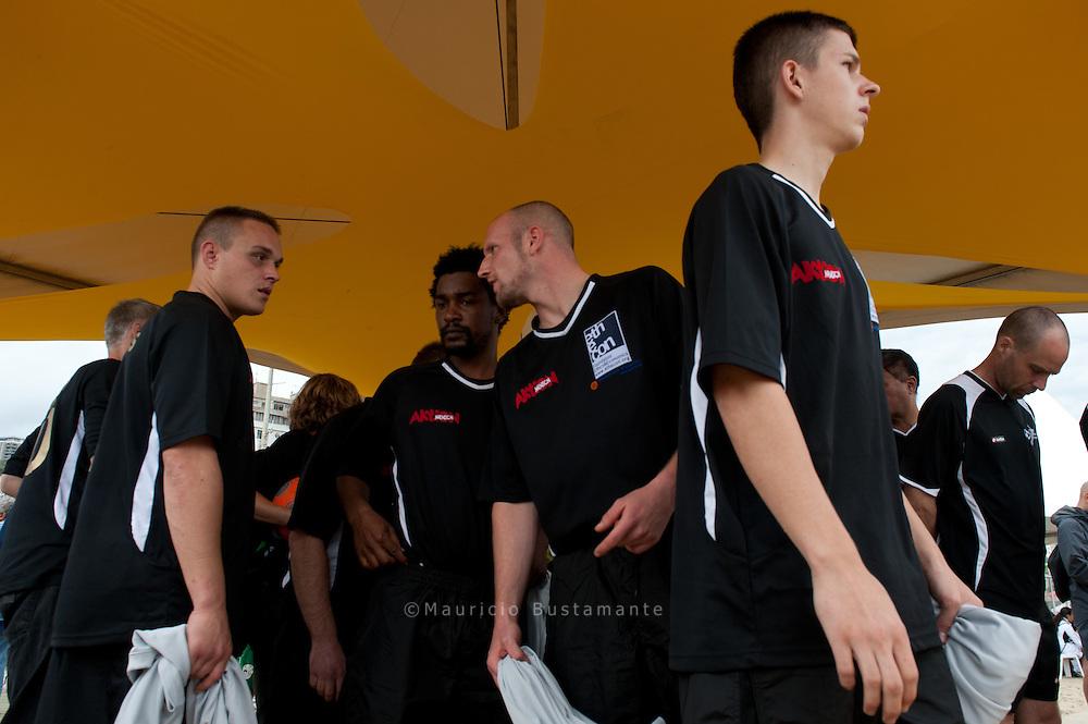 German team. Copacabana, Homeless world cup 2010.