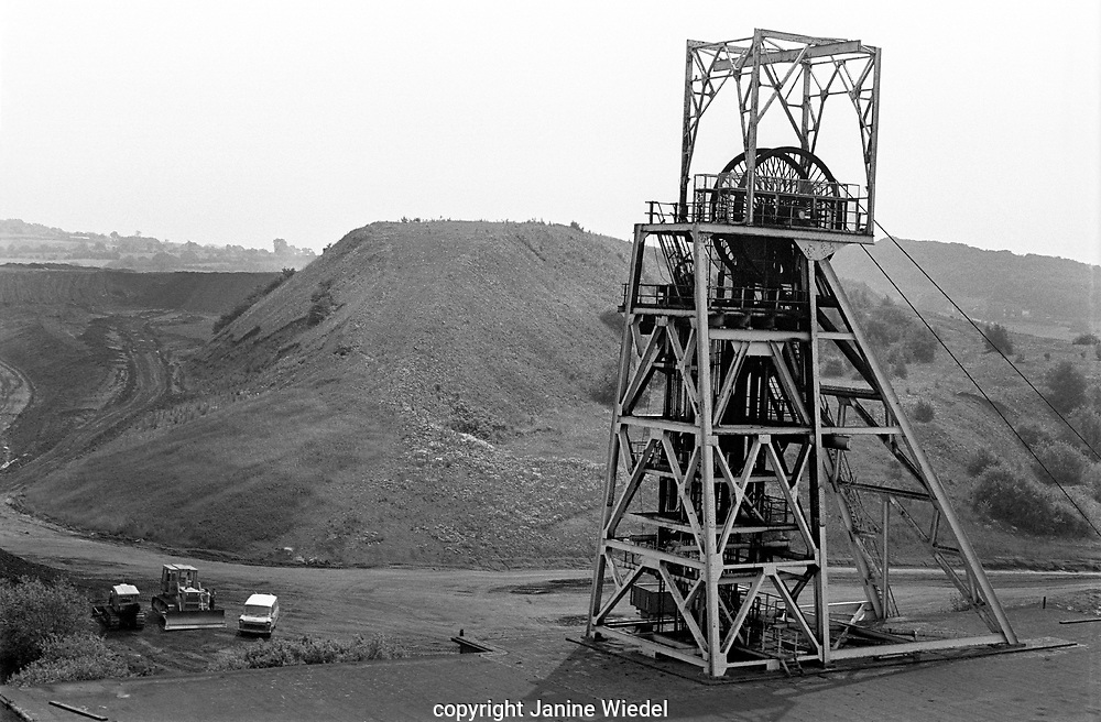 Mine shaft at Florence Colliery Stoke on Trent  Staffordshire. 1970's