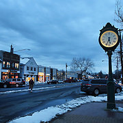 The main street of Madison, Connecticut, USA. 20th February 2014. Photo Tim Clayton