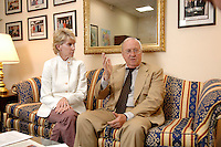 02 OCT 2006, BERLIN/GERMANY:<br /> William R. Timken jr., US-Botschafter in Deutschland, und seine ehefrau Sue, waehrend einem Interview in Timkens Buero, Botschaft der Vereinigten Staaten von Amerika <br /> William R. Timken jr., US-Ambassador in Germany, and his wife Sue, during an interview, in Timken´s office, Embassy of the United Staates of America in Berlin<br /> IMAGE: 20061002-01-013<br /> KEYWORDS: William Timken, Sue Timken
