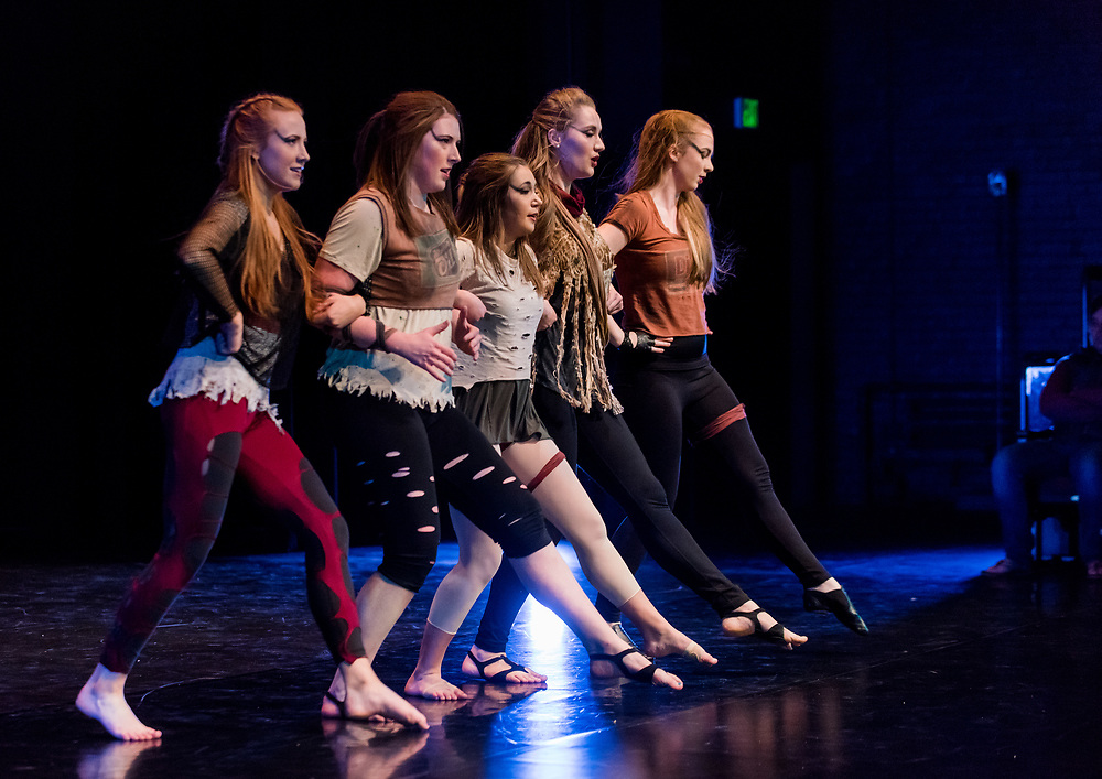The student choreography concert was held in Magnuson Theatre on April 6 & 7, 2017 (Photo by Ed Bell)