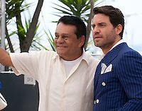 Roberto Durán and Édgar Ramírez at the Hands Of Stone film photo call at the 69th Cannes Film Festival Monday 16th May 2016, Cannes, France. Photography: Doreen Kennedy