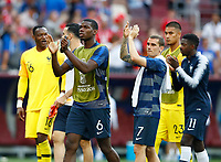 PPaul Pogba and Antoine Griezmann (France) greeting the supporters at the end of the match<br /> Moscow 26-06-2018 Football FIFA World Cup Russia  2018 <br /> Denmark - France / Danimarca - Francia<br /> Foto Matteo Ciambelli/Insidefoto
