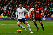 Son Heung-Min (7) of Tottenham Hotspur on the attack during the Premier League match between Bournemouth and Tottenham Hotspur at the Vitality Stadium, Bournemouth, England on 11 March 2018. Picture by Graham Hunt.
