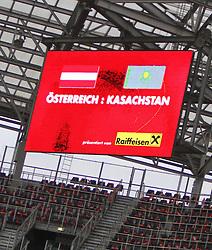 07.09.2010, Red Bull Arena, Salzburg, AUT, UEFA 2012 Qualifier, Austria vs Kazakhstan, im Bild Feature, Anzeigetafel, EXPA Pictures © 2010, PhotoCredit: EXPA/ D. Scharinger / SPORTIDA PHOTO AGENCY