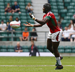 May 26, 2019 - Twickenham, England, United Kingdom - Vincent Onyala of Kenya.during The HSBC World Rugby Sevens Series 2019 London 7s Challenge Trophy Quarter Final Match 28 between Kenya and Scotland at Twickenham on 26 May 2019. (Credit Image: © Action Foto Sport/NurPhoto via ZUMA Press)