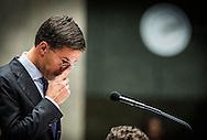 DEN HAAG - Premier Mark Rutte tijdens de Algemene Beschouwingen.  COPYRIGHT ROBIN UTRECHT