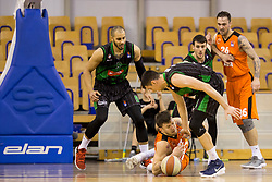 during Basketballl match between Petrol Olimpija Ljubljana and KK Cedevita in Round #18 of ABA League, on January 27, 2018 in Tivoli sports hall, Ljubljana, Slovenia. Photo by Urban Urbanc / Sportida