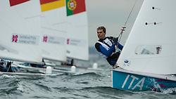 2012 Olympic Games London / Weymouth<br /> 470 Training race<br />  Zucchetti Pietro, (ITA, 470 Men)