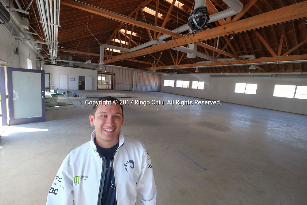 Steve Arhancet, CEO of Team Liquid, a professional video gaming team, is turning a building into video game training facility.. (Photo by Ringo Chiu)<br /> <br /> Usage Notes: This content is intended for editorial use only. For other uses, additional clearances may be required.