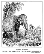 """Mowgli's Brothers. """"Baloo the bear is fighting for us, and I have come to you, O Hathi the Wise, to take counsel with you also."""" (Rudyard Kipling re-edited.)"""
