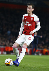 February 21, 2019 - London, Greater London, United Kingdom - Mesui Ozil of Arsenal ..during UEFA Europa League Round of 32 2nd Leg between Arsenal and of Bate Borisov at Emirates stadium , London, England on 20 Feb 2019. ..Credit Action Foto Sport. (Credit Image: © Action Foto Sport/NurPhoto via ZUMA Press)