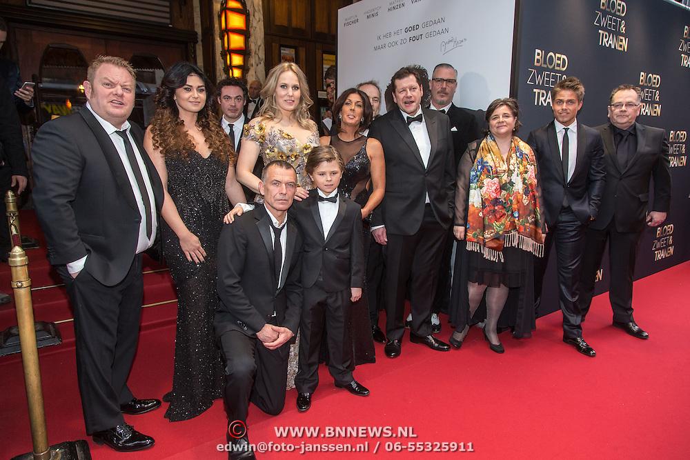 NLD/Amsterdam/20150330 - Premiere Bloed, Zweet en Tranen, cast en familie Hazes