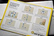 Nederland, Nijmegen, 6-11-2009Gebruiksaanwijzing, instructiekaart voor de huisarts van het mecicaanse griep vaccin pandemrix van glaxosmithkline.Foto: Flip Franssen