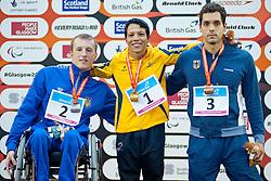 KOMAROV Oleksandr, NELSON Crispin, IWANOW Sebastian Dietz UKR, COL, GER at 2015 IPC Swimming World Championships -  Men's 100m Freestyle S6
