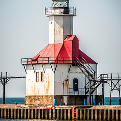 St. Joseph Lighthouse picture. The St. Joseph Lighhouse is located in Southwestern Michigan on Lake Michigan. The photo is high resolution and was taken in 2013. Image Copyright © Paul Velgos All Rights Reserved.