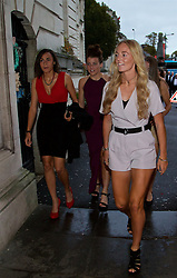 CARDIFF, WALES - Monday, October 5, 2015: Wales' Naomi Clipston, Angharad James and Sophie Ingle arrive for the FAW Awards Dinner Dinner at Cardiff City Hall. (Pic by David Rawcliffe/Propaganda)