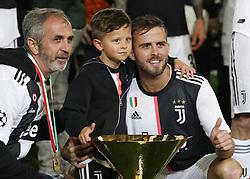 May 19, 2019 - Turin, ITA, Italy - Miralem Pjani? and his family during Serie A match between Juventus v Atalanta, in Turin, on May 19, 2019  (Credit Image: © Loris Roselli/NurPhoto via ZUMA Press)
