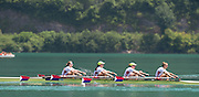 Aiguebelette, FRANCE.   USA W4X. Grace LATZ, Tracy EISSER, Eleanor LOGAN and Felice MUELLER.  2014 FISA World Cup II, 12:24:25  Sunday  22/06/2014. [Mandatory Credit; Peter Spurrier/Intersport-images]