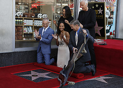 May 3, 2018 - Los Angeles, California, U.S - (Clockwise From Top Left) Mila Kunis, James Cameron, Hollywood Chamber of Commerce, President/CEO Leron Gubler, Zoe Saldana and LA Councilmember Mitch O'Farrell attend Zoe Saldana star honoring ceremony on the Hollywood Walk of Fame in Los Angeles, the United States, May 3, 2018. (Credit Image: © Ringo Chiu via ZUMA Wire)