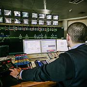 sala di comando e controllo della metropolitana automatica di Torino