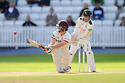 Chris Rogers of Somerset paddles the ball down his leg side during the Specsavers County Champ Div 1 match between Somerset County Cricket Club and Nottinghamshire County Cricket Club at the Cooper Associates County Ground, Taunton, United Kingdom on 22 September 2016. Photo by Graham Hunt.