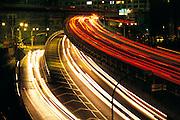 multi-level freeway at night, Brooklyn Heights