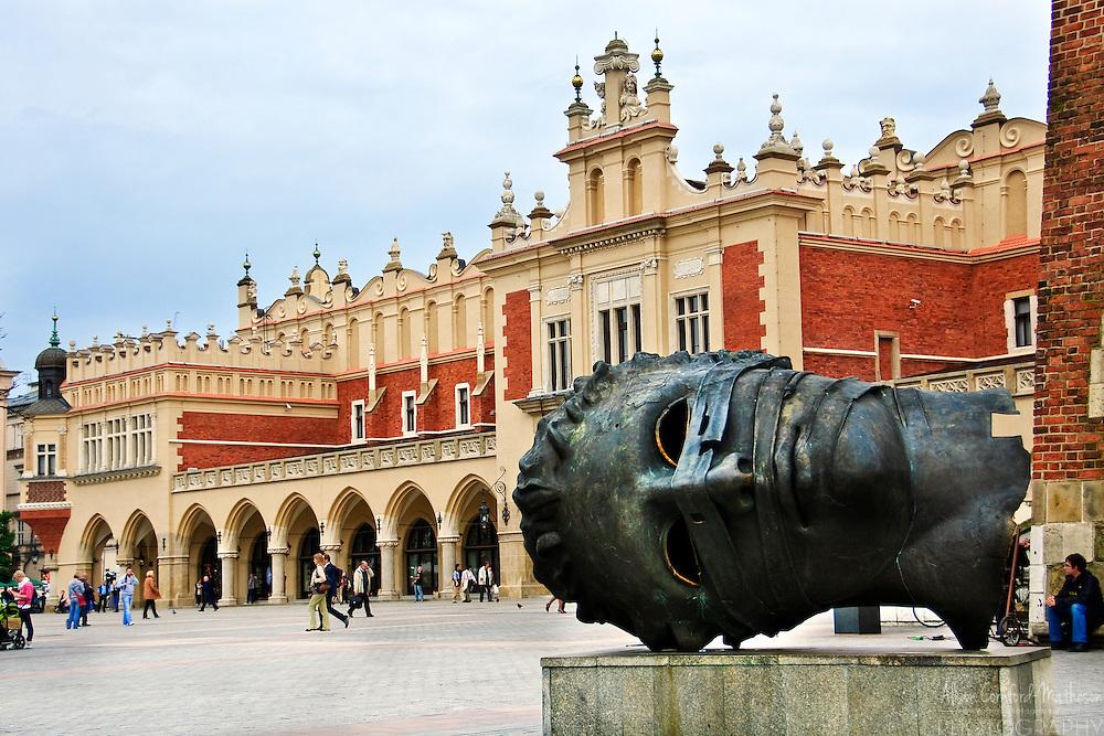 The Renaissance Sukiennice (Cloth Hall, Drapers' Hall) in Kraków, Poland is a famous city landmark.