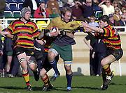 © Peter Spurrier/ Intersport-Images.Photo Peter Spurrier.15/03/2003.Sport - Rugby  National League Div 2 Henley v Harrogate Nick Martin breaks through the mid field