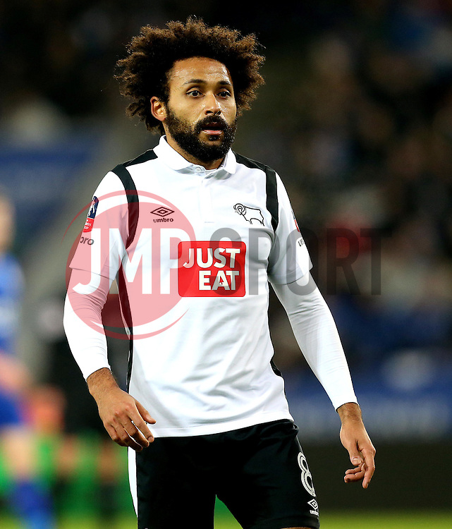 Ikechi Anya of Derby County - Mandatory by-line: Robbie Stephenson/JMP - 08/02/2017 - FOOTBALL - King Power Stadium - Leicester, England - Leicester City v Derby County - Emirates FA Cup fourth round replay