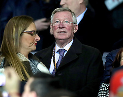 MANCHESTER, ENGLAND - Wednesday, March 16, 2016: Former Manchester United manager Alex Ferguson before the UEFA Europa League Round of 16 2nd Leg match against Liverpool at Old Trafford. (Pic by David Rawcliffe/Propaganda)