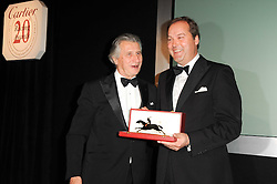 Left to right, ARNAUD BAMBERGER Executive Chairman of Cartier UK and The HON.HARRY HERBERT at the 20th annual Cartier Racing Awards - the most prestigious award ceremony within European horseracing, held at The Dorchester Hotel, Park Lane, London on 16th November 2010.
