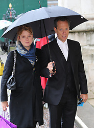 Richard E Grant  and his daughter Olivia arriving at a National Service of Thanksgiving to celebrate the life of  Nelson Mandela, at Westminster Abbey in London, Monday, 3rd March 2014. Picture by Stephen Lock / i-Images