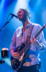 © Licensed to London News Pictures. 01/06/2015. London, UK.   Hozier performing live at The Roundhouse.   Hozier, real name Andrew Hozier-Byrne, is an Irish musician, singer and songwriter.  Since releasing his eponymous debut album 'Hozier' in September 2014, Hozier enjoyed a number of award wins and nominations.   Win - 2015 Grammy award for song of the year with 'Take me to the Church'.  Win - Ivor Novello award in May 2015 for best song also with 'Take me to the Church'.   Win – Billboard 2015 music awards Best Song with 'Take Me to the Church'.   Nomination – Billboard 2015 music awards Best New Artist.<br /> .  Photo credit : Richard Isaac/LNP
