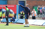 Neil Cox during the Sky Bet League 2 match between Carlisle United and AFC Wimbledon at Brunton Park, Carlisle, England on 22 August 2015. Photo by Stuart Butcher.